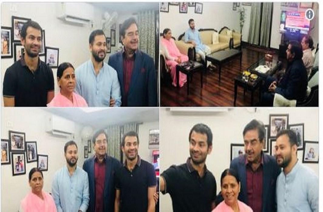Shatrughan Sinha has meets Lalu Prasad Yadav family