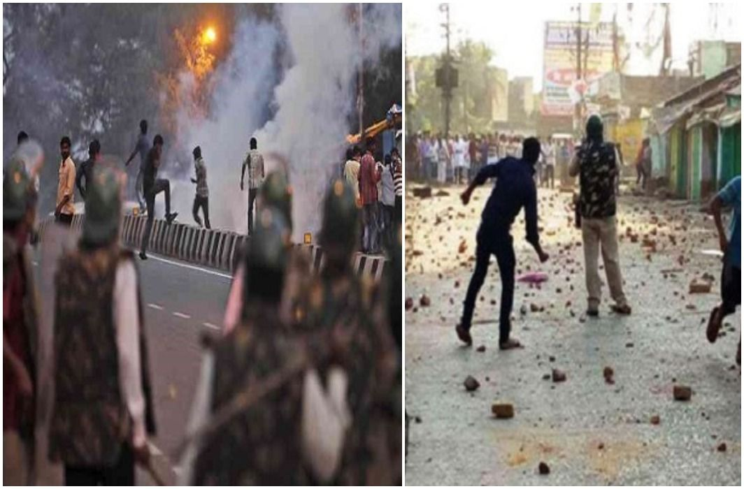 Violent clashes between two communities in Bhagalpur,  Many injured including policemen