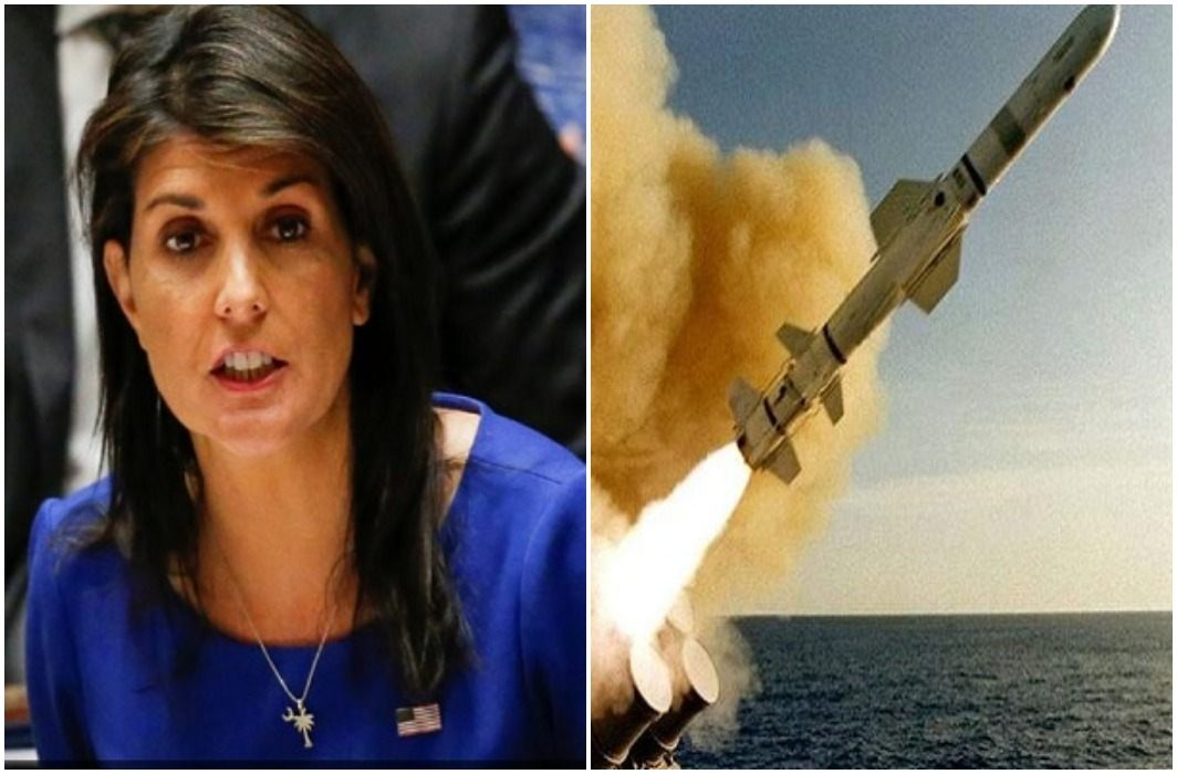America fired 1100 crores missile on Syria, Nikki Haley again warns