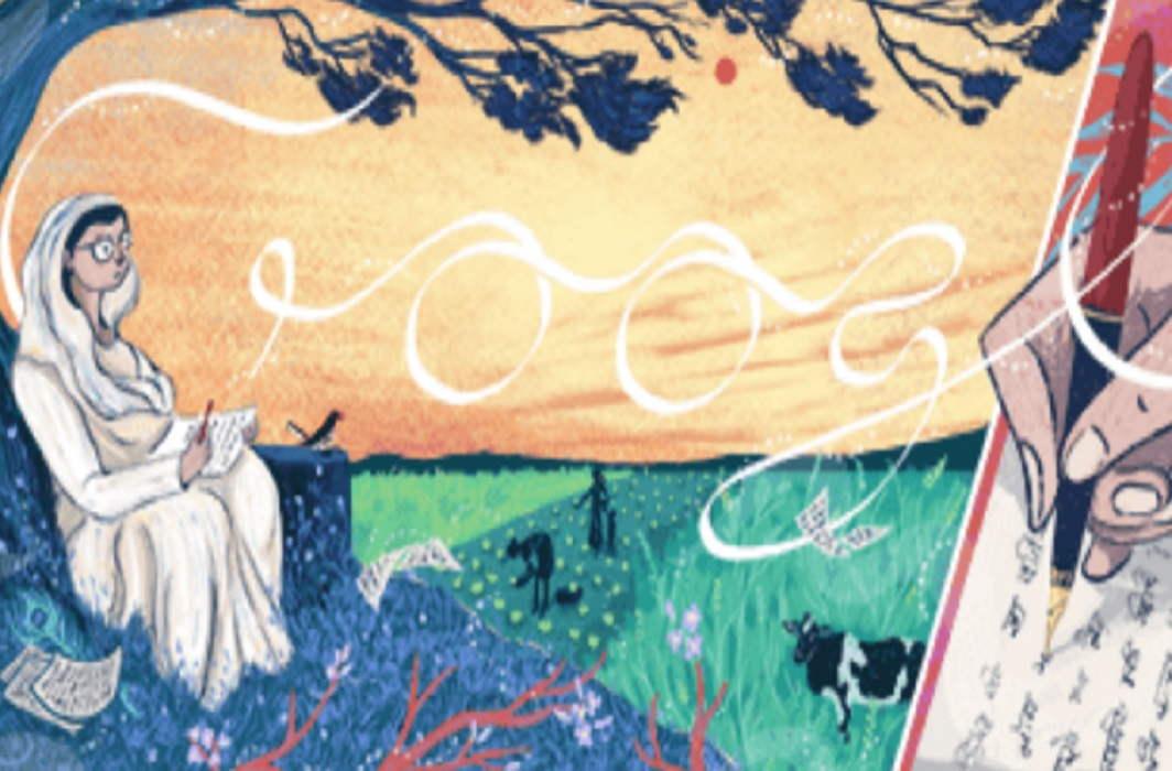 Google gave tribute to Great poetess Mahadevi Varma by doodles