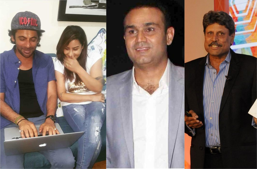 Kapil and Sehwag in Sunil's show