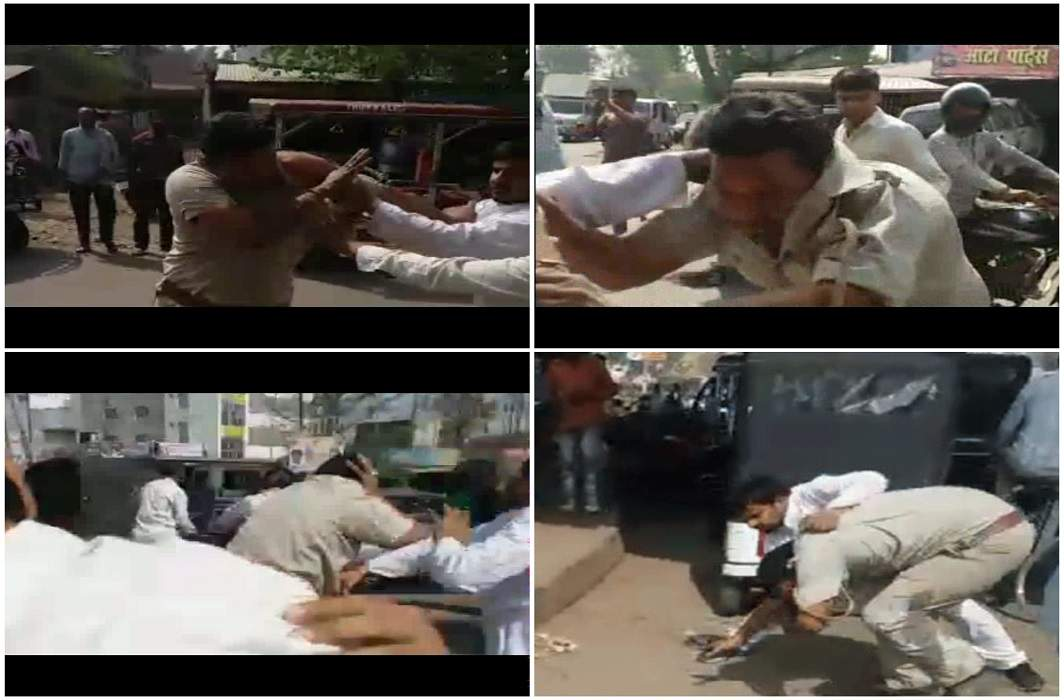 Attack on a policeman in UP; Dabangon badly beaten at the crossroads