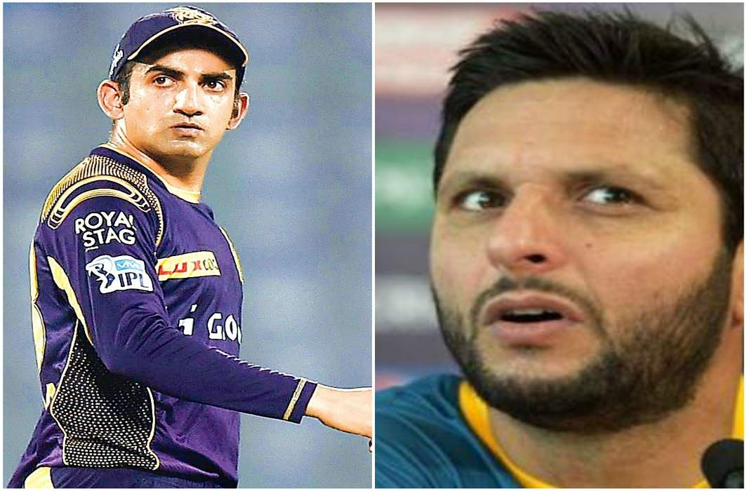 Afridi are celebrating the no ball to be out: Gautam Gambhir