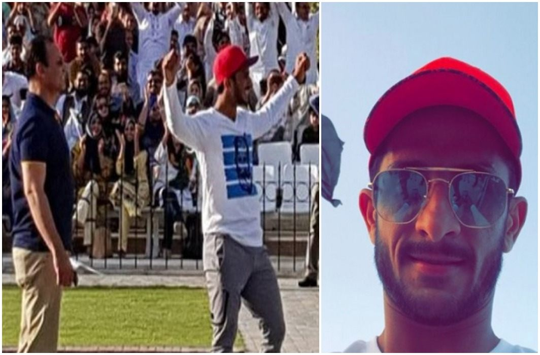 The Pakistani cricketer bad behaviour manner on the Wagah border,   Indian BSF protested