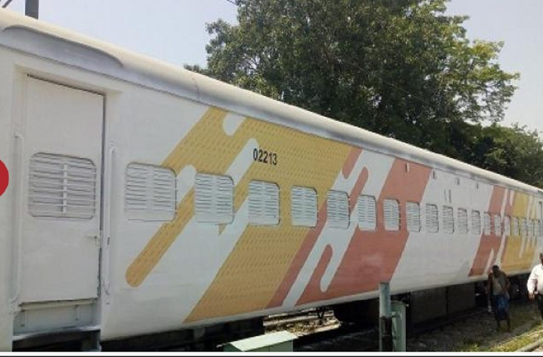 Train coach will be colorful, New color willbe change