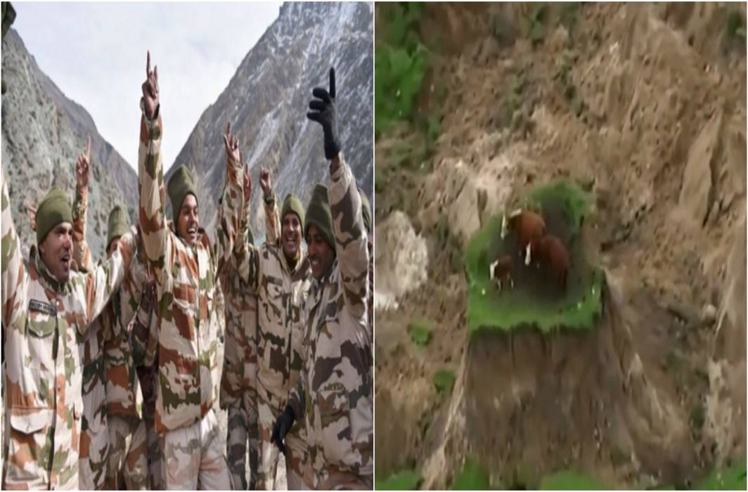 Kamdhenu's rescue, stuck on the rock, ITBP, SDRF jawans gave the life