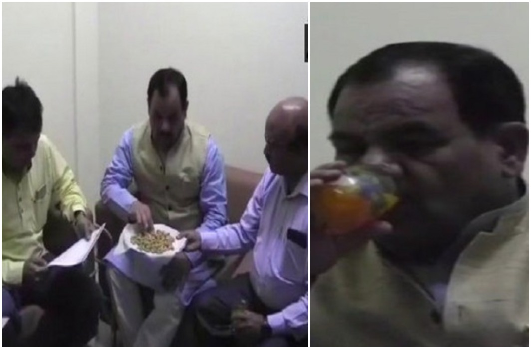 Fast with cashew and juice of BJP minister Harak Singh