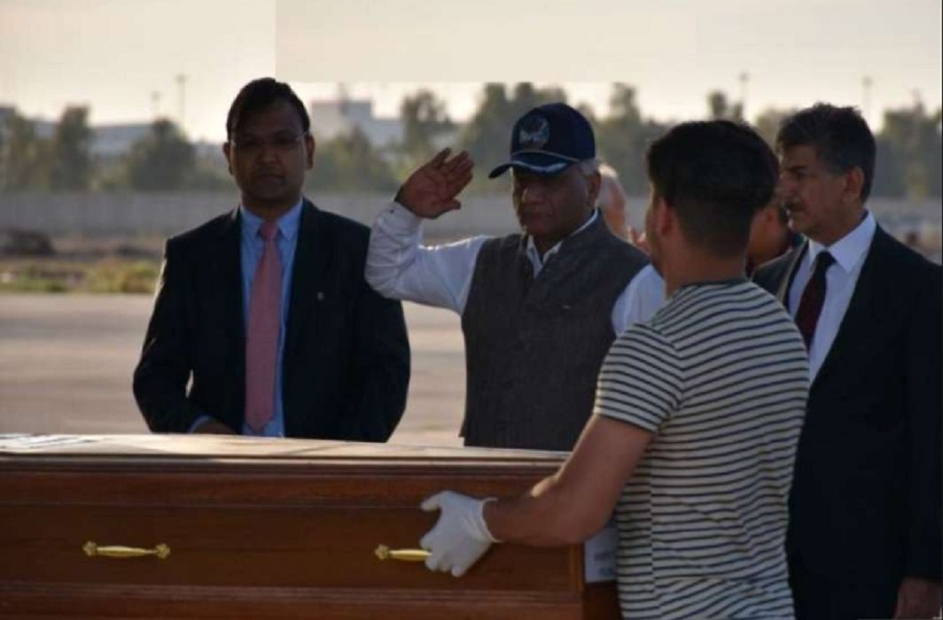 38 dead bodies of 39 Indians killed in Iraq has arrived in india