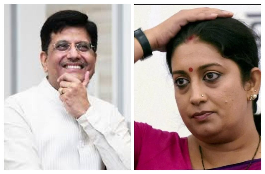 Cabinet reshuffle, Smriti Irani removed from I&B Minister post. Finance Ministry entrusted to Piyush