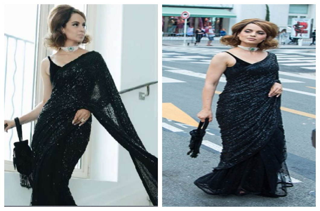 Cannes Film Festival: Black Retro Look, Kangna in Everyone's Heart