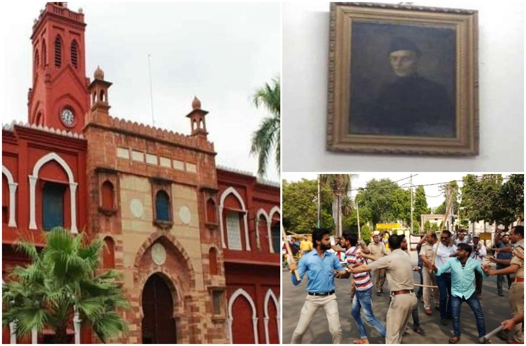 Hindu organization and students of AMU on jinna controversy