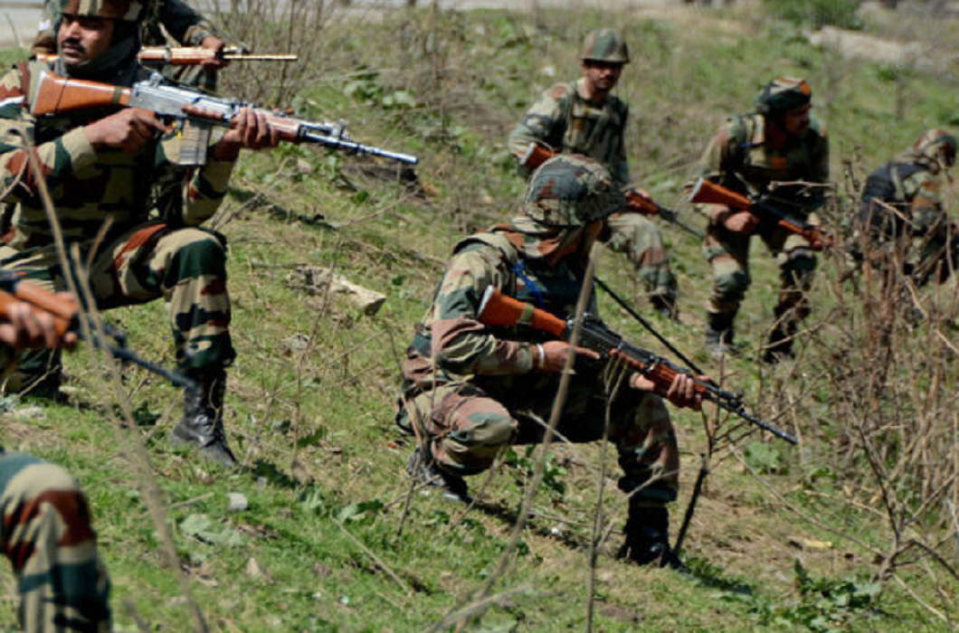 Five terrorists were killed in an encounter with army in Tangdhar, operation continued