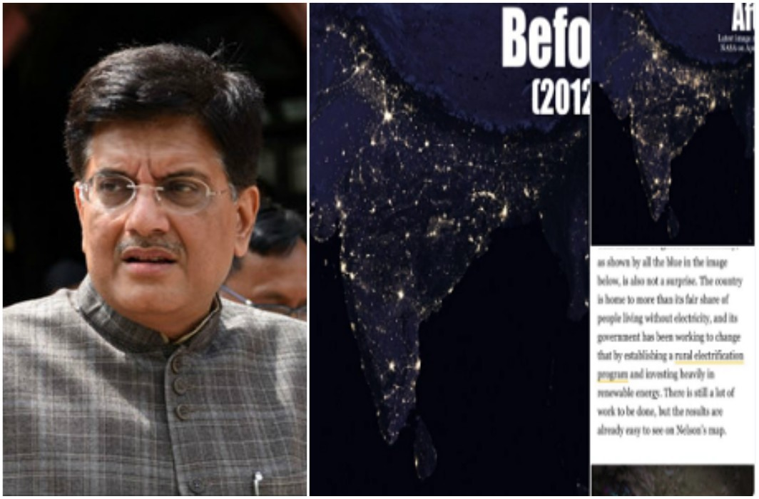 Piyush Goyal has Shared evidence for Reply of tweet