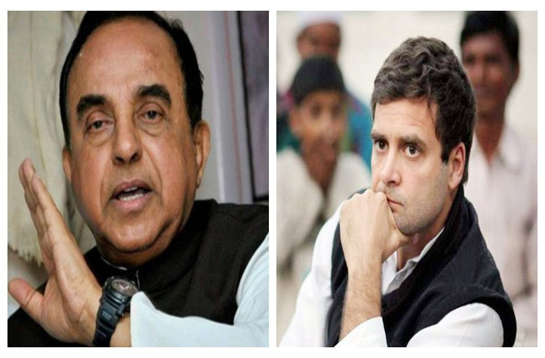 Subramaniam Swamy's reaction on Rahul's statement