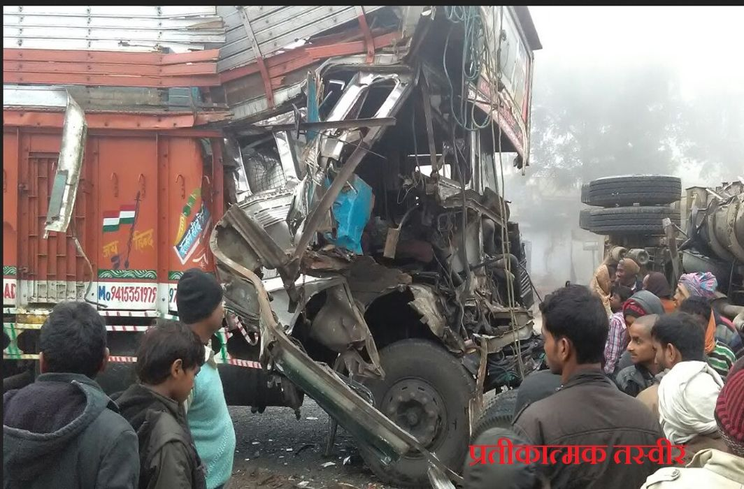 Seven workers die in Hardoi road accident, many injured