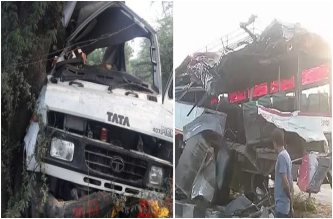 Six people killed, 26 injured in truck and bus collision in Bulandshahr