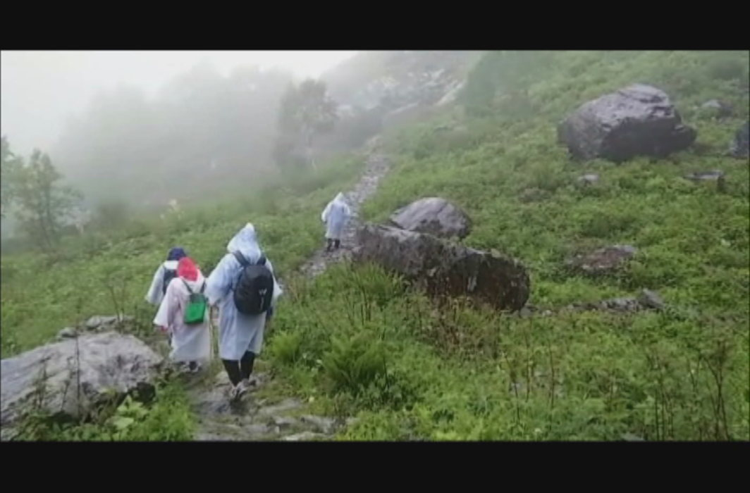 Difficulty in the valley of flowers, it is difficult to walk between colorful flowers