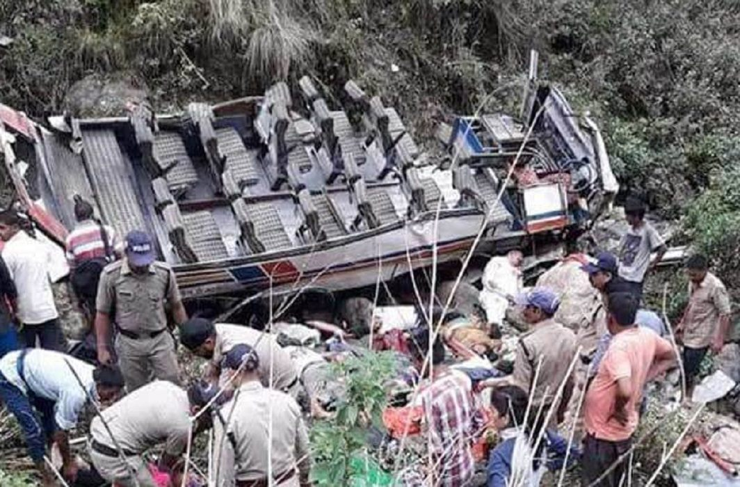 Bus accident in Uttarakhand,47 deaths,Nine injured