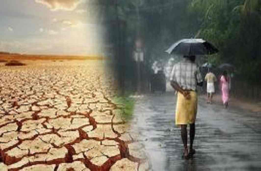 Somewhere the rain and Somewhere the dry