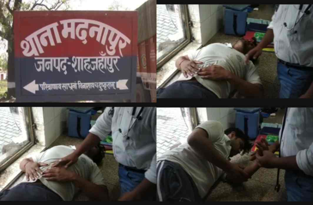 accused on police to beaten mother and son in police station