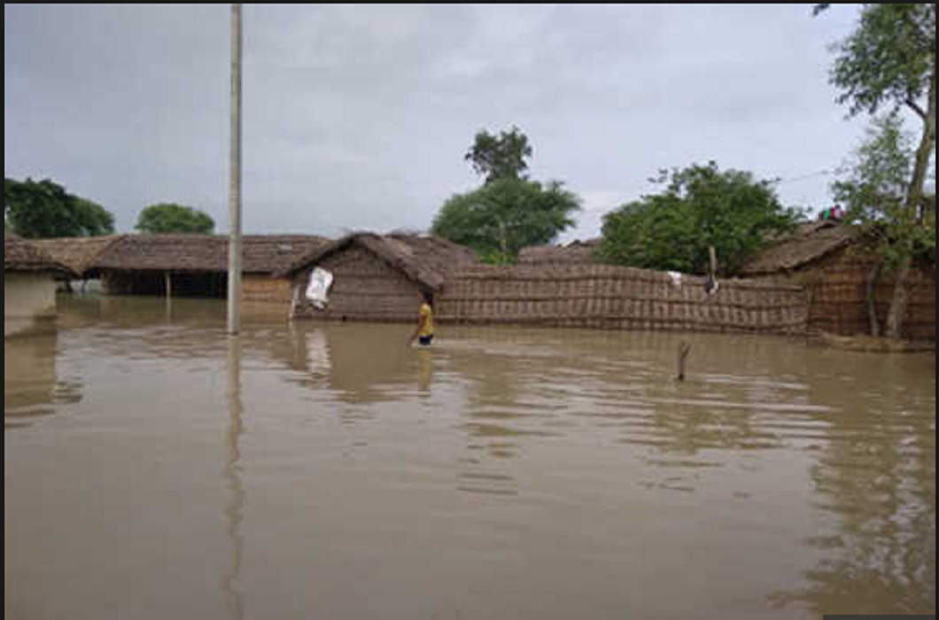 50 affected villages by flood of Saryu River in Basti