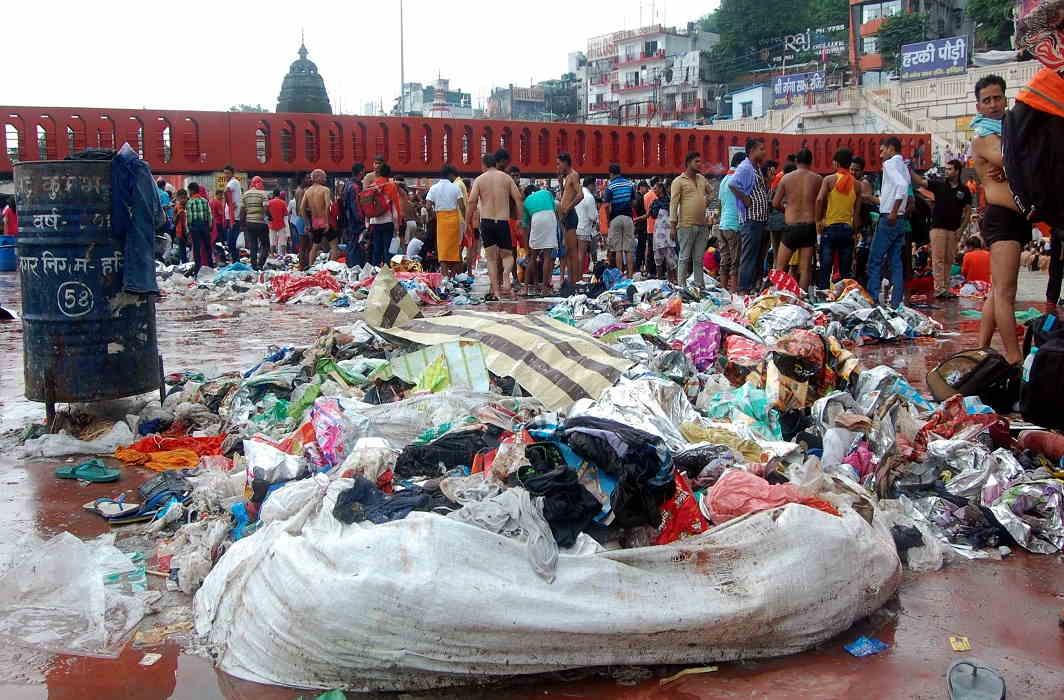 Kanwar Mela finished, left behind a pile of dirt