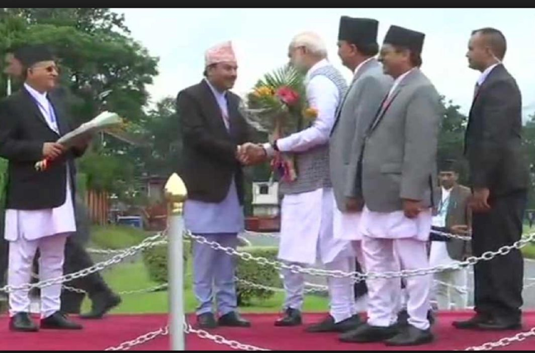 PM Modi arrives in Kathmandu for join BIMSTEC .