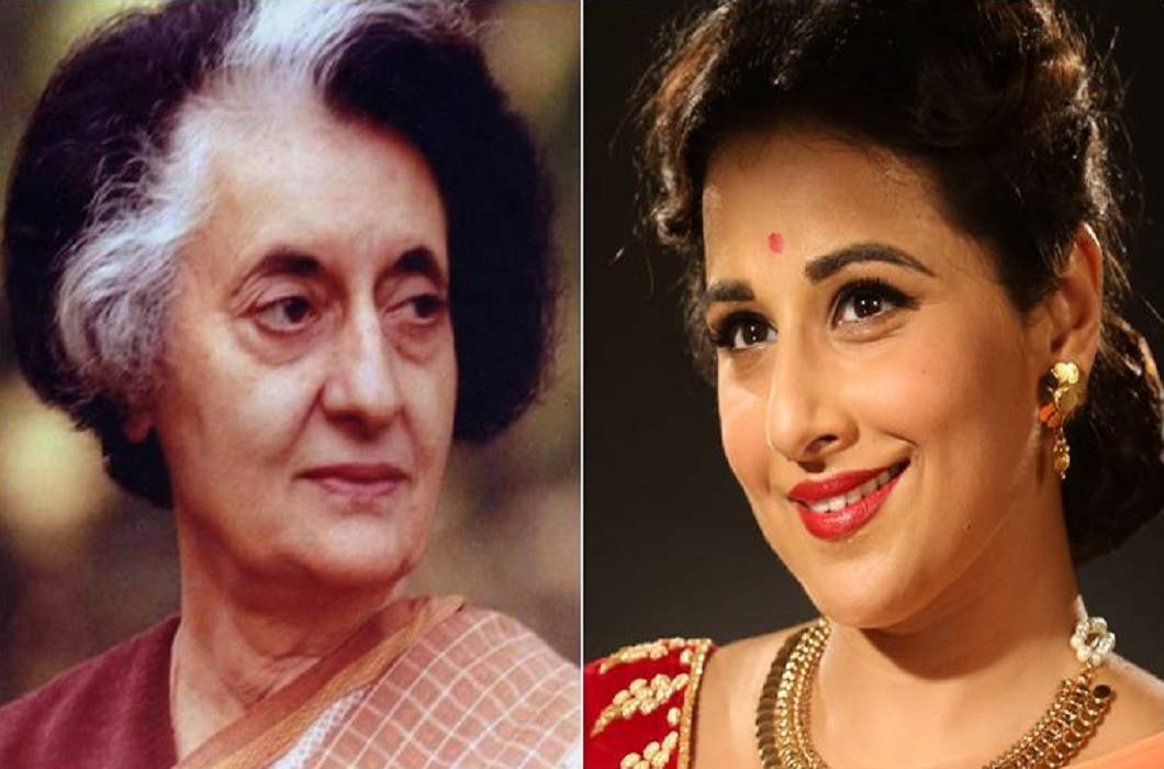 Vidya Balan plays the role in biopic of Former Prime Minister Indira Gandhi