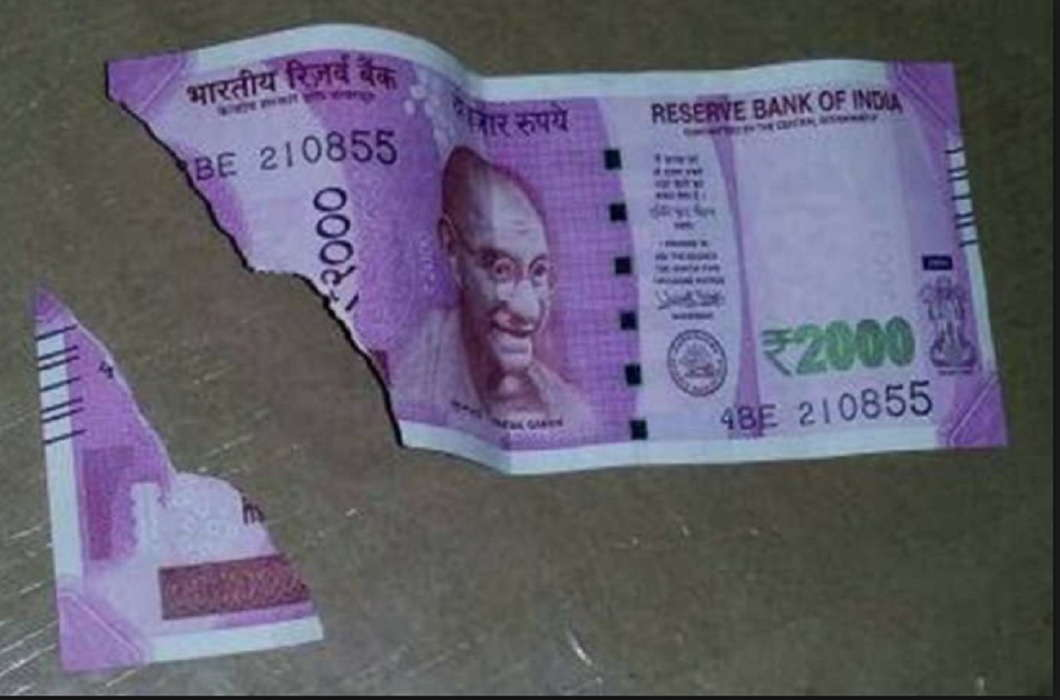 Reserve Bank of India changed rules of mutilated 200 and 2000 notes