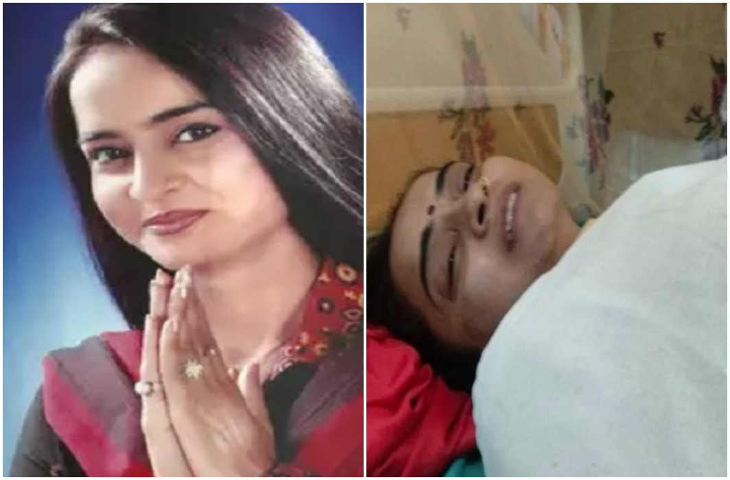 Former minister of state Sangeeta Yadav burn in suspicious circumstances and Doubt on In-laws