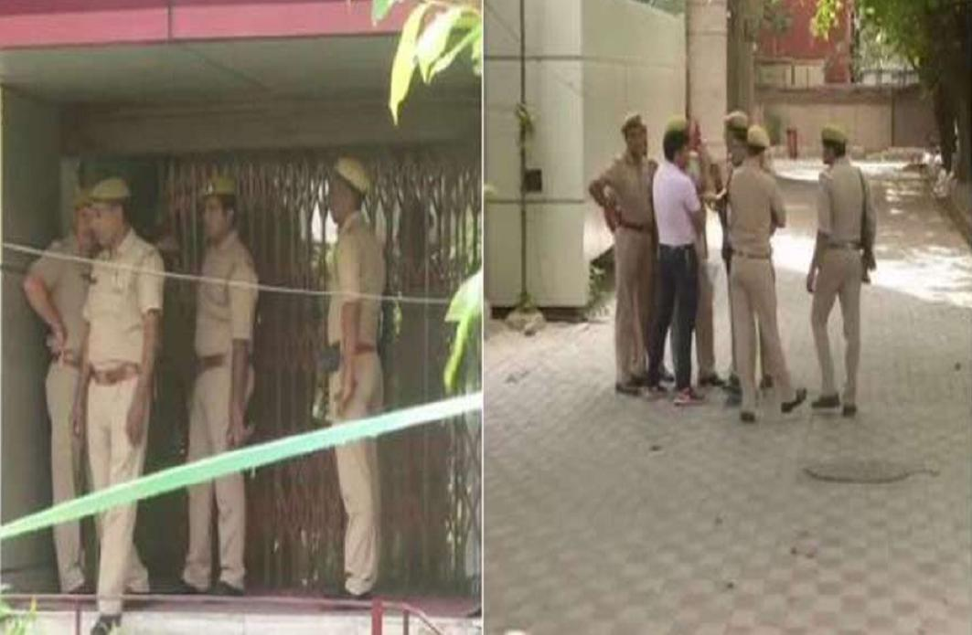 Attack of rogue On PNB In noida and 2 security guard killed