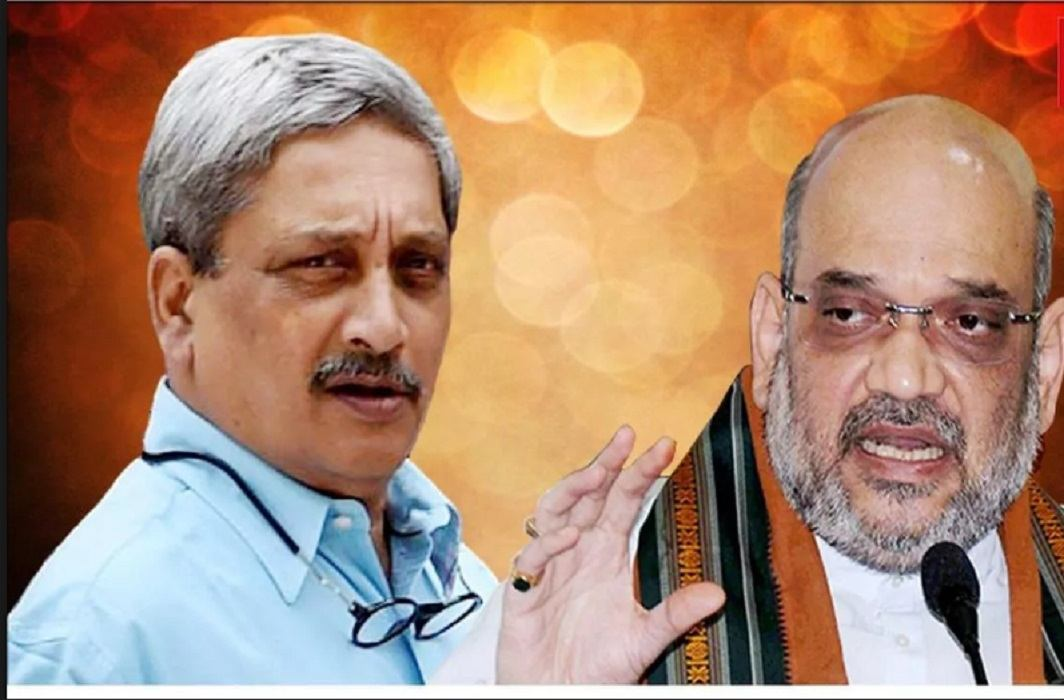 Amit Shah's announcement Manohar Parrikar will be Chief Minister of Goa.