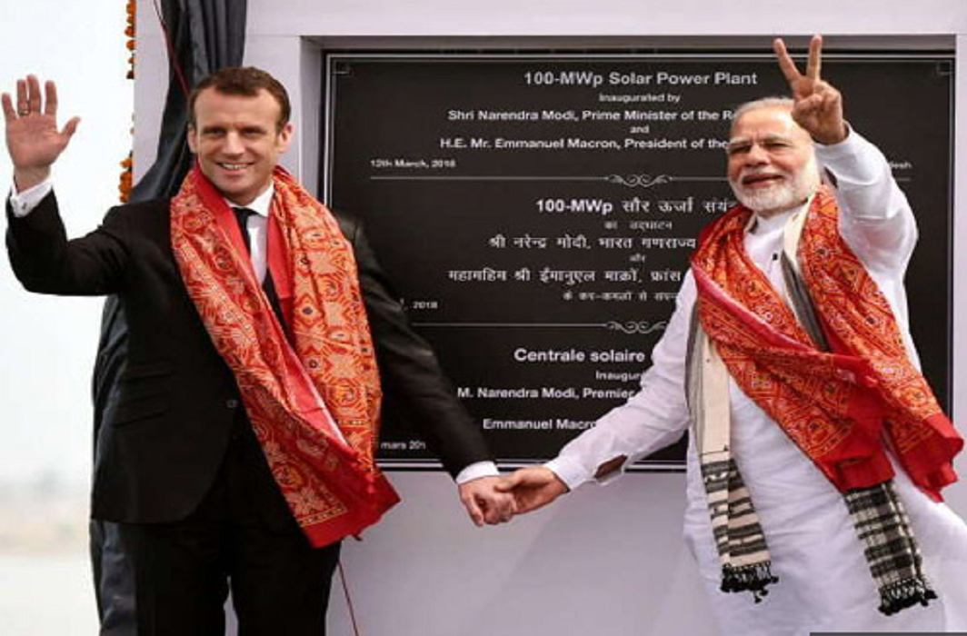Prime Minister Narendra Modi and President Emmanuel Macron have awarded 'Champions of the Earth'.