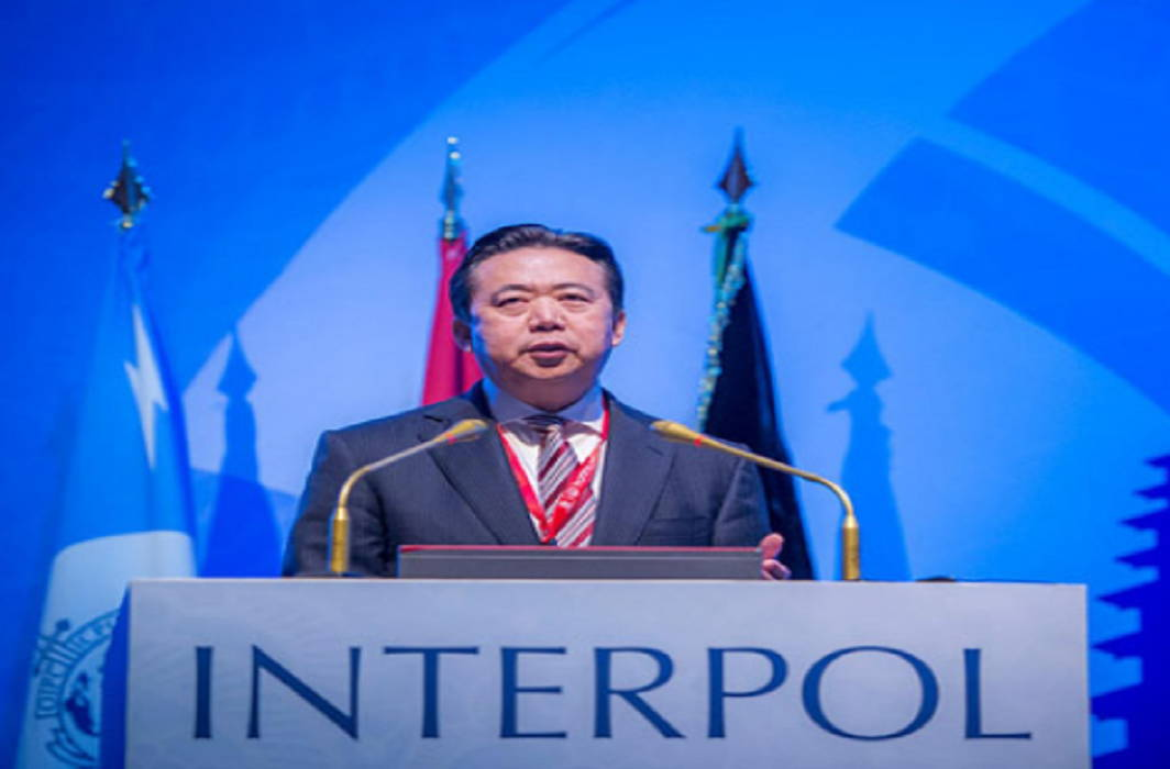 Missing Interpol chief Meng Hongwe in China's custody for investigating