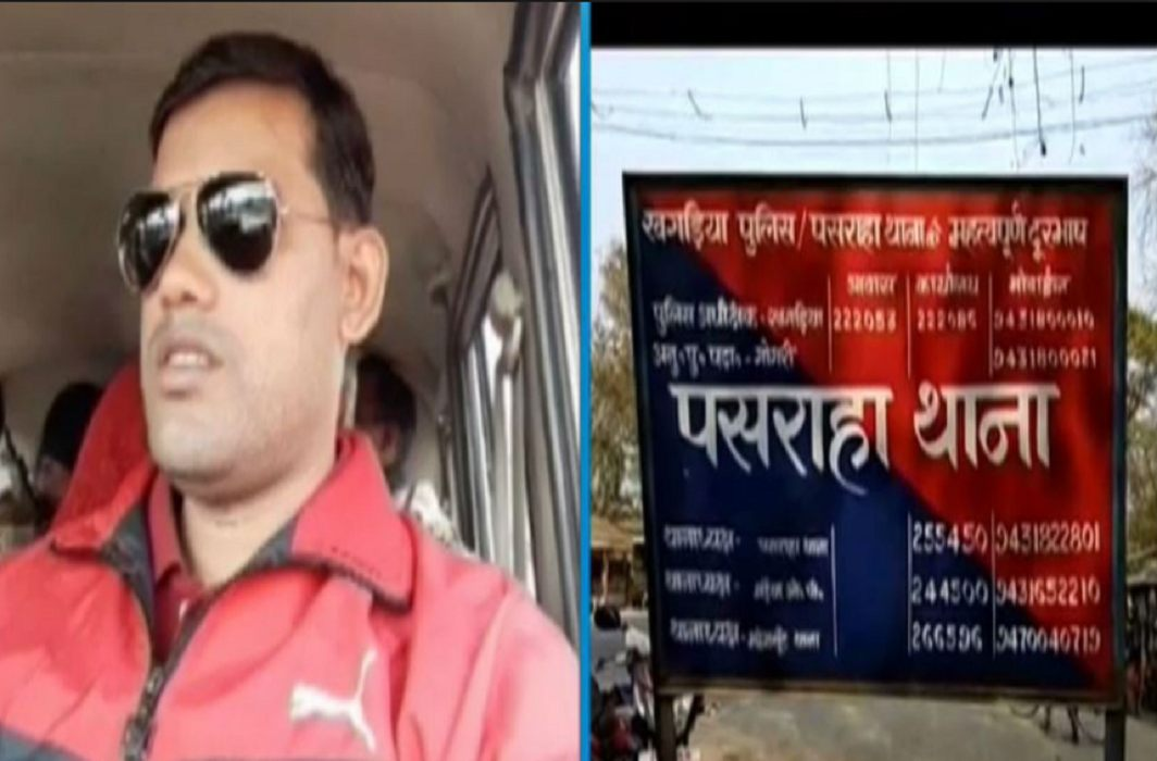 police station officer death in encounters between police and criminals in Khagaria Bihar