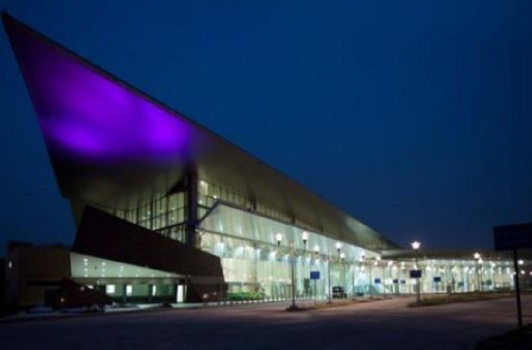 LMRC's shopping mall being prepared at Metro Airport Station in lucknow.