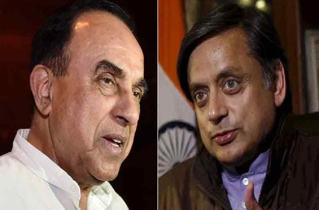 Subramanian Swamy reply on Shashi Tharoor's statement on Ayodhya temple that Congress will not support