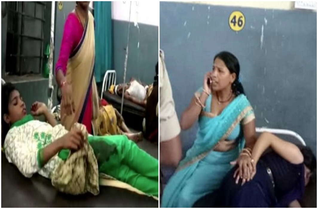 Attack of Blade Man during Dussehra fair In Jehanabad of Bihar and Panic in women