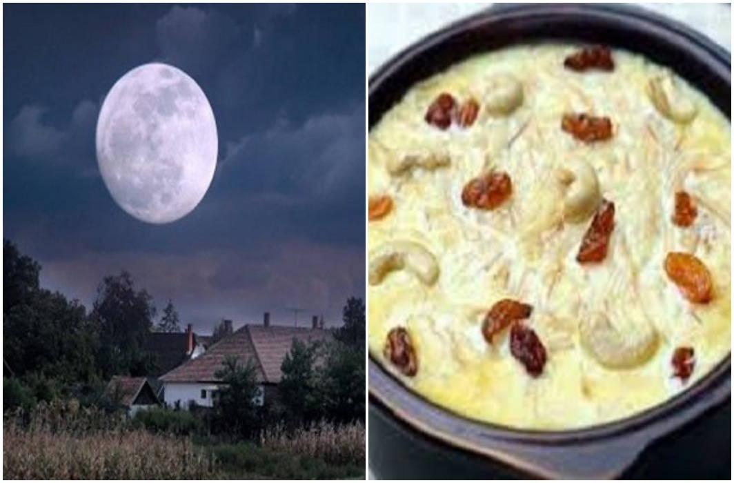 Moon in Sharad urnima and rain of amrit and importance of kheer on Sharad purnima
