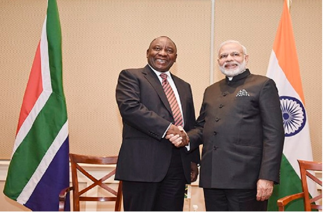 South African President Cyril Ramphosa will be guests of India on republic day
