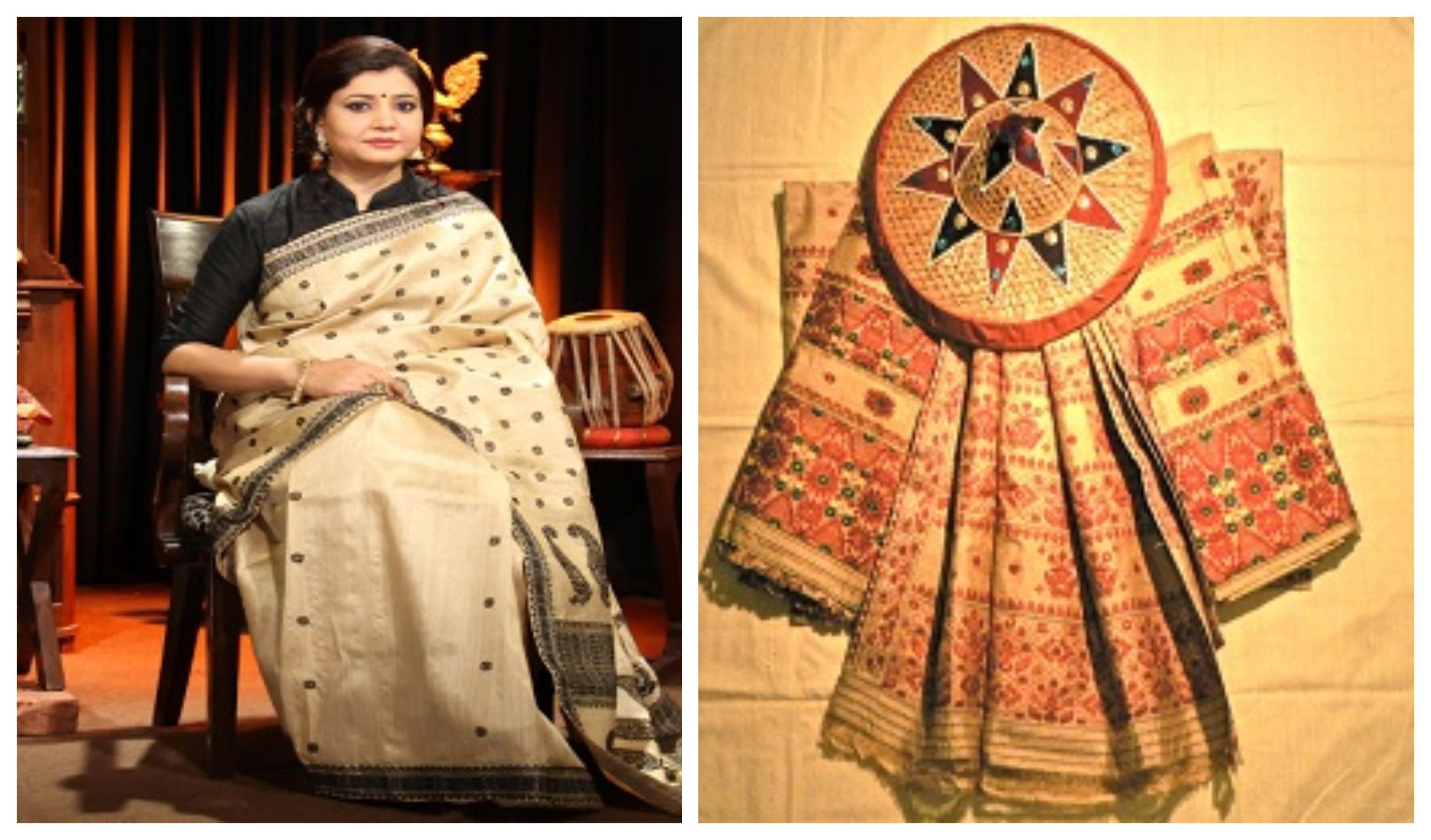 Assamese Muga Silk Saree