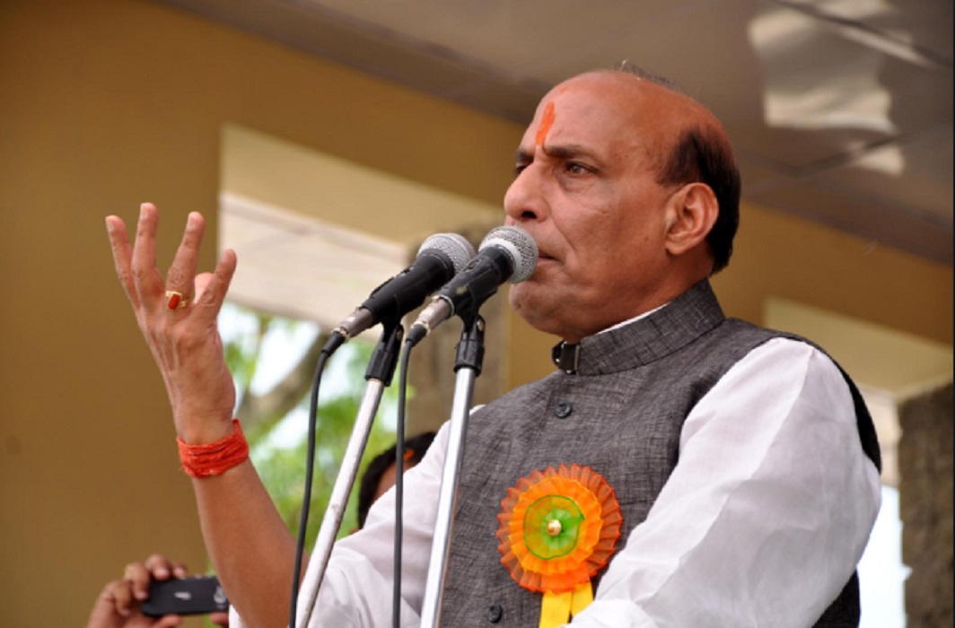 Rajnath said that temple and cow election issue for Congress