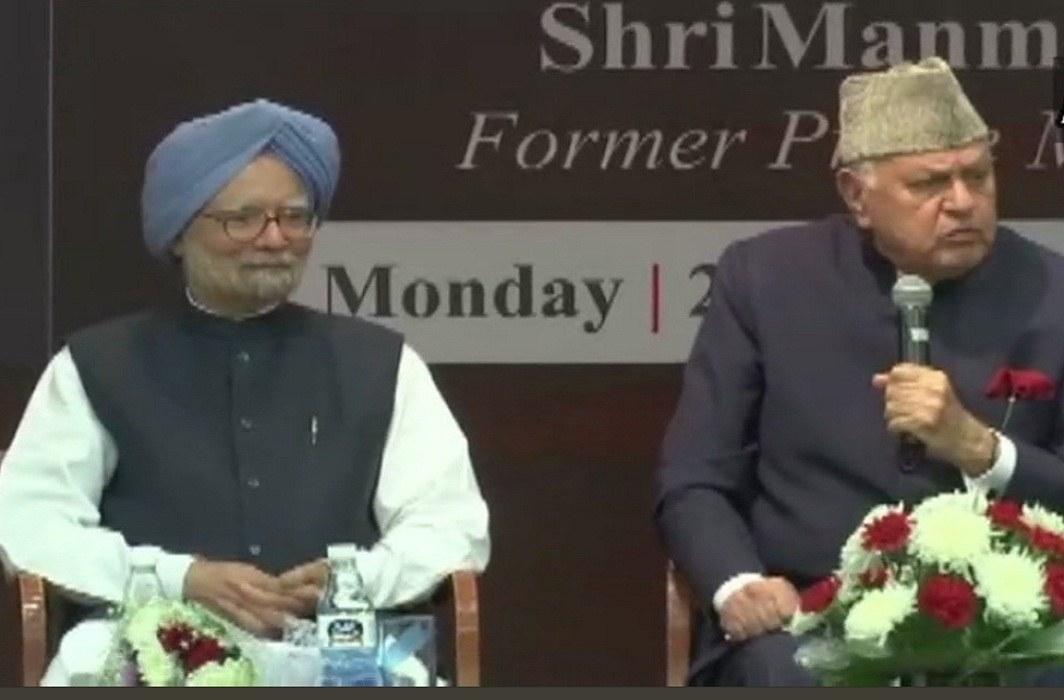 Farooq Abdullah & Manmohan Singh