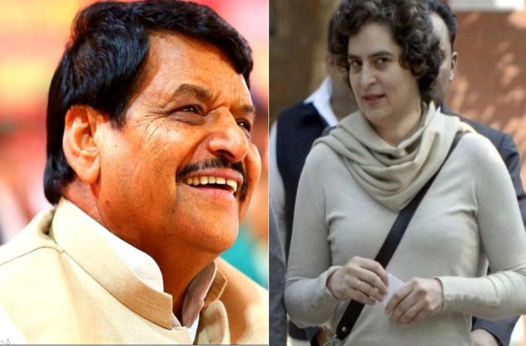Shivpal Singh Yadav and Priyanka Gandhi