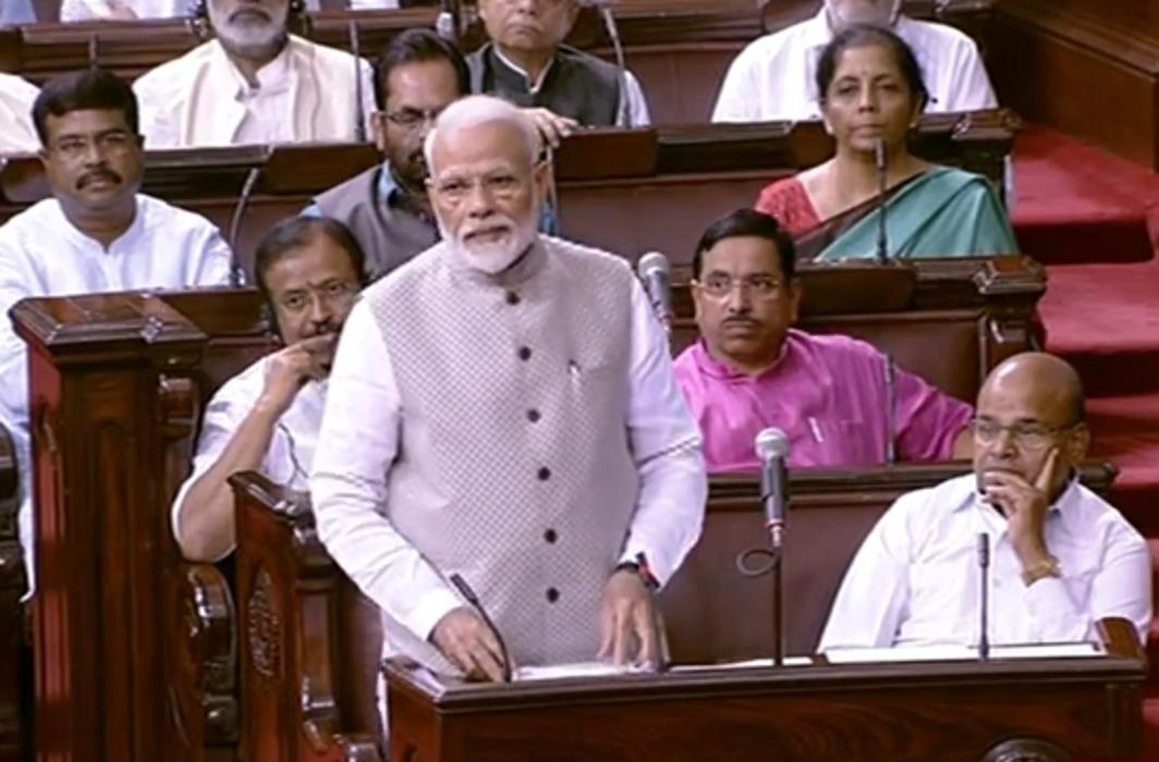 Narendra Modi in Rajyasabha