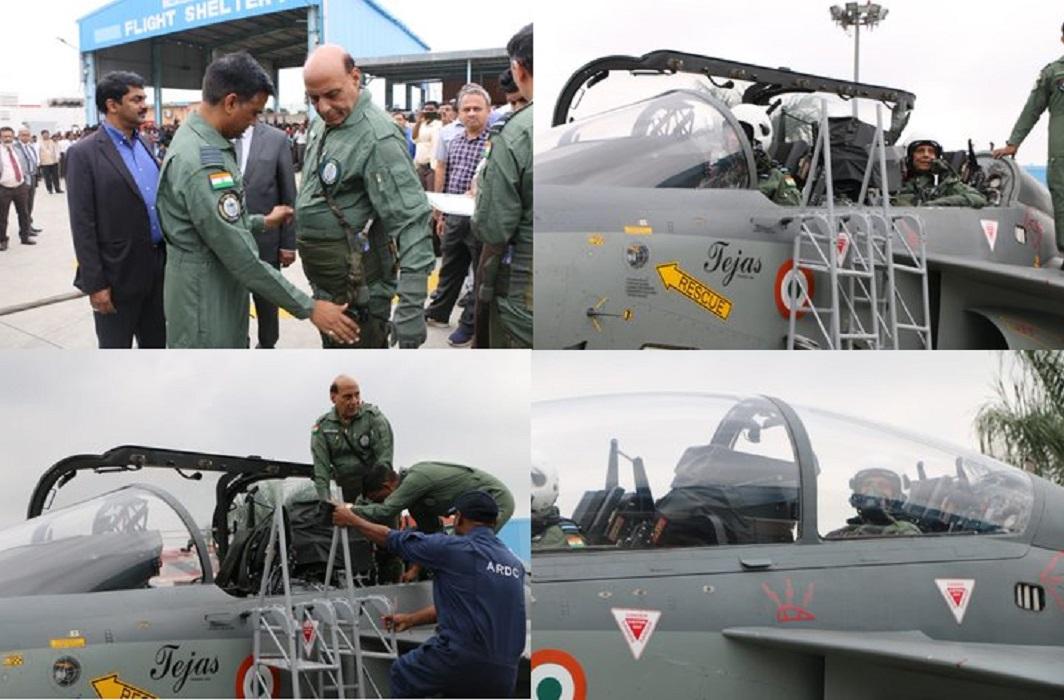 Rajnath Singh flies in tejas aircraft