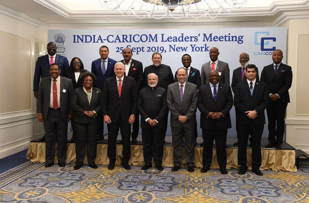 Narendra Modi with Caribbean Community