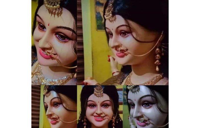 The viral picture of Maa Durga of Narsinghpur