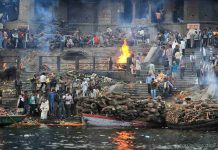Cremations at Manikarnika Ghat