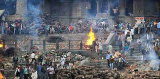 Cremations at Manikarnika Ghat